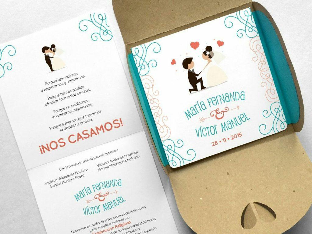 Impresión de invitaciones para bodas