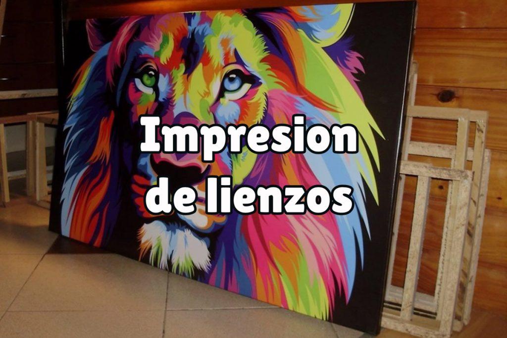 ¿En qué consiste la impresión de lienzos?