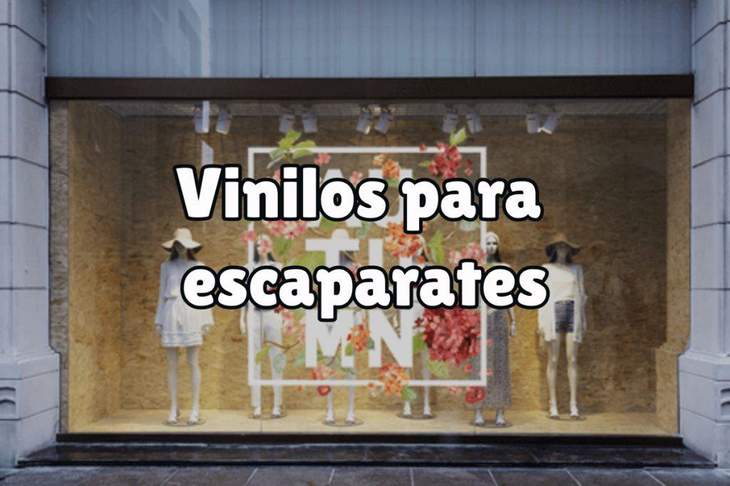 ¿Para qué sirven los vinilos en escaparates?